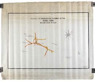 1912 map of the Rebel Mine, Beaver County, Utah