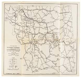 Auto Trails map to Custer Battlefield 1929