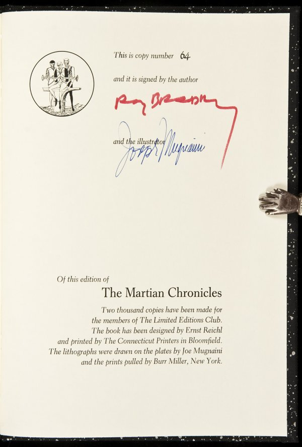 18: Ray Bradbury's Martian Chronicles LEC signed ed