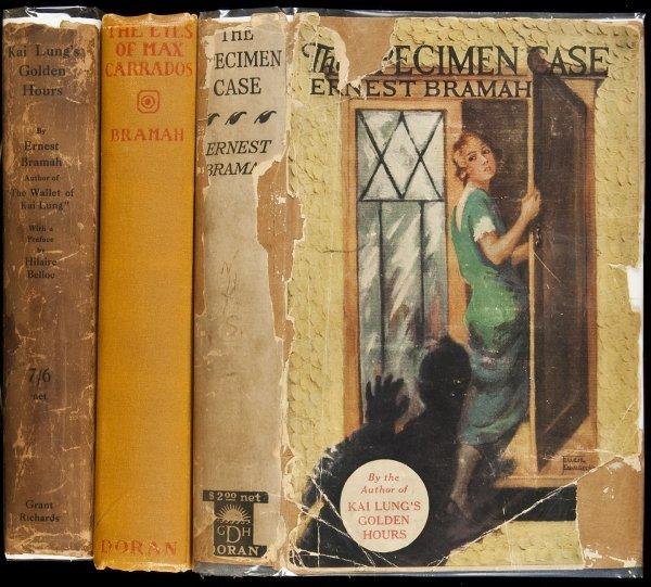 21: 3 novels by Ernest Bramah 2 in djs