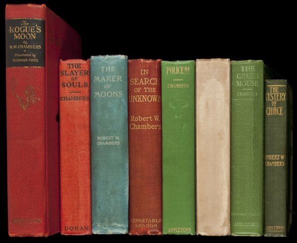 23: Eight novels by Robert W. Chambers w/2 letters