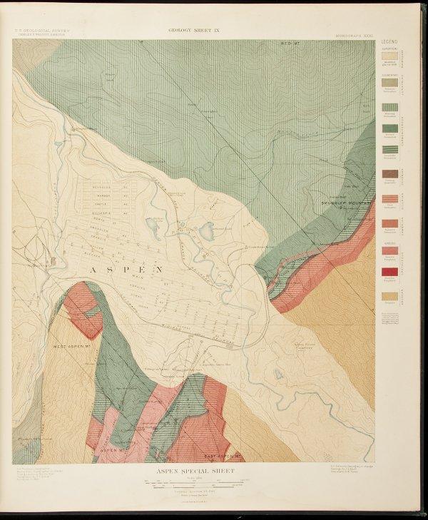 9: Spurr's Atlas of the Aspen District 1898