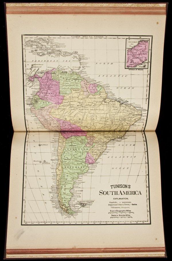 10: Tunison's Peerless Universal Atlas of the World