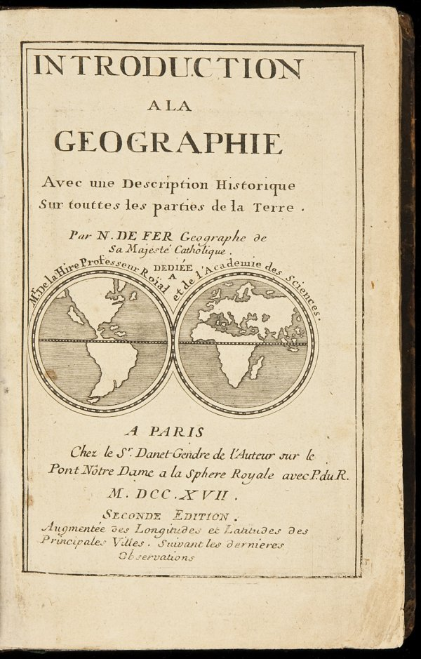 14: 1717 geography by De Fer with 6 maps