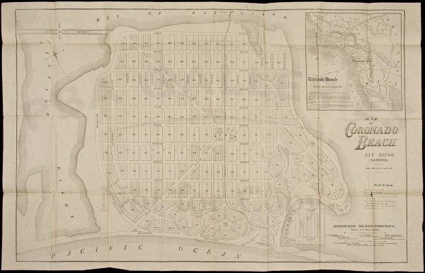 18: Map of Coronado Beach, California c.1886