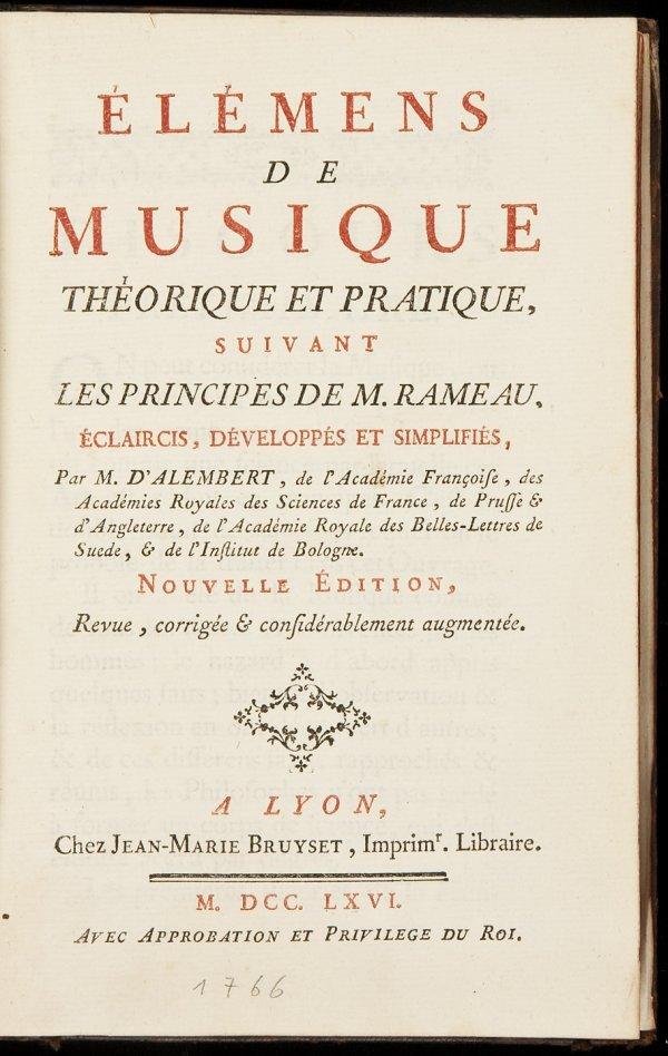 4: Alembert's Elements of Music 1766