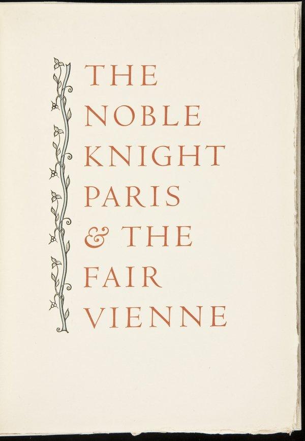 6: Allen Press The Noble Knight Paris 1 of 130