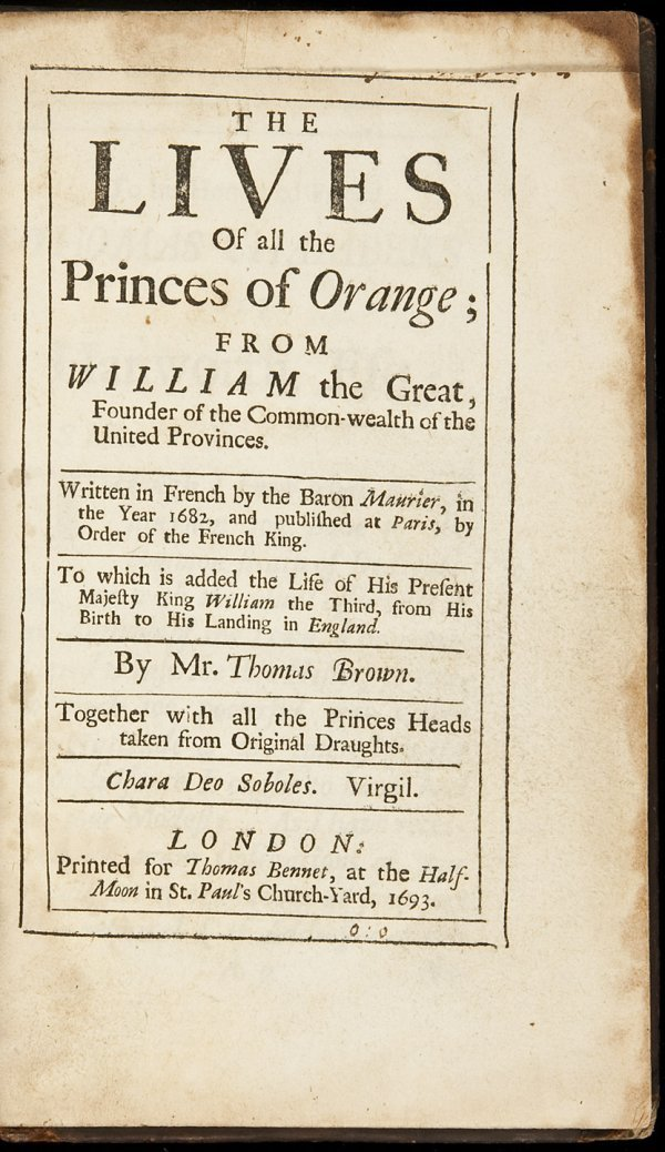 12: The Lives of All the Princes of Orange 1693