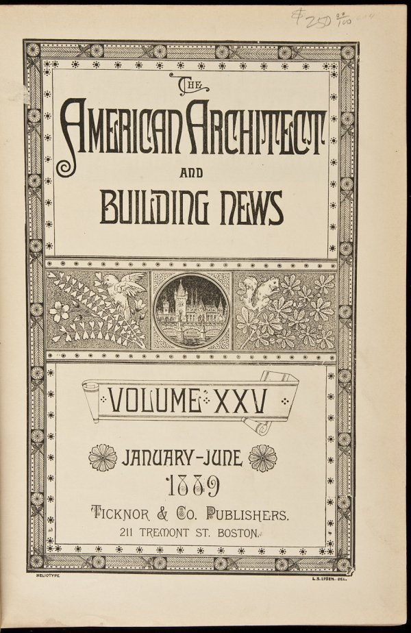 9: American Architect and Building News 1889