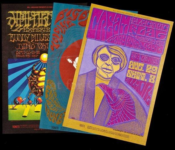 136: 10 Bill Graham concert posters 1960s
