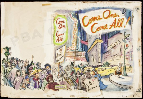 206: Come One Come All orig art for dj by Don Freeman