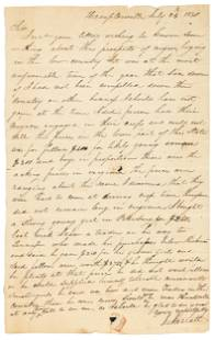 Letter on the price of slaves 1830