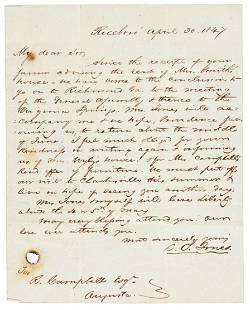 """Letter by white Minister called """"Apostle to the Slaves"""""""