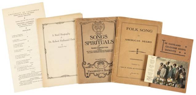 Ephemera about early 20th century Black music