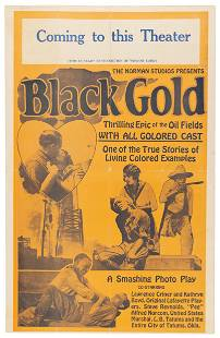 Ad for Black Gold: A 1928 African-American Western