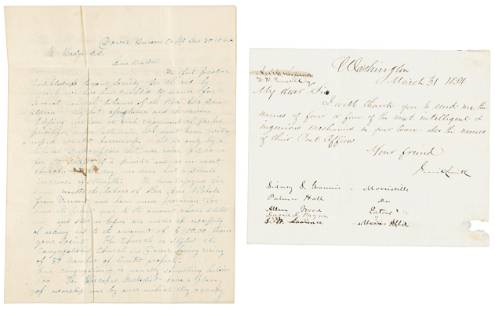 Letters by two ultra Abolitionists elected to the US