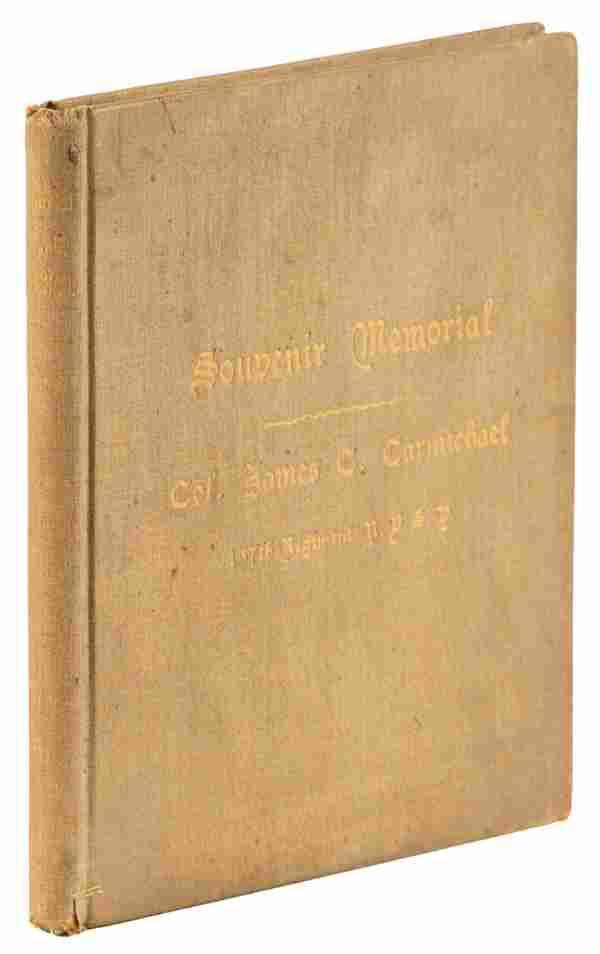 Civil war veteran memorial booklet, 1891