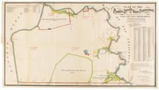 Plat of the Pueblo Lands of San Francisco 1884