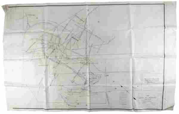 Map of Silver Hill Workings Storey Co. Mines