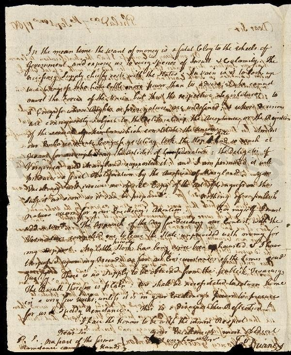 10: Letter from James Duane to George Clinton 1780
