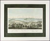 41 Color lithograph view of San Francisco 1851