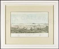 42 Color lithograph view of San Francisco 1852