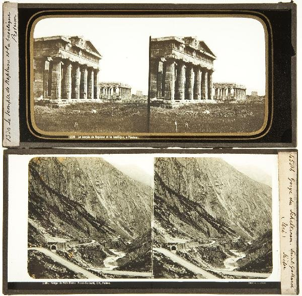 249: 21 stereoscopic glass slides of European views