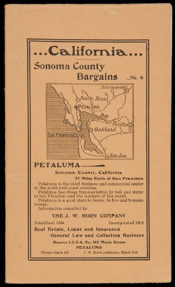 68: California: Sonoma County Bargains. No. 8