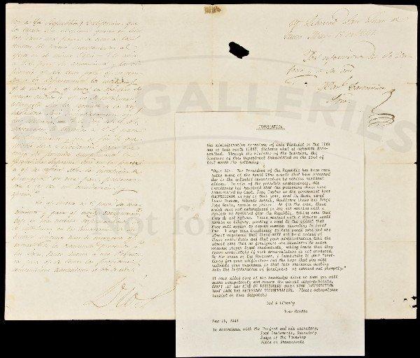 73: 1841 Juan Castro Letter re illegal immigration