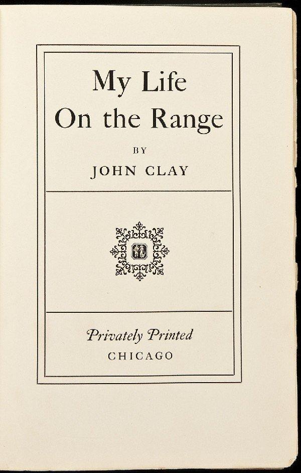 83: Life on the Range by John Clay 1924