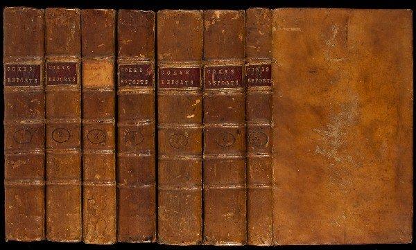 85: Coke's Reports 7 volumes 1793
