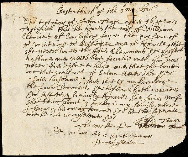 86: Adulterous affair in Massachusetts, 1656