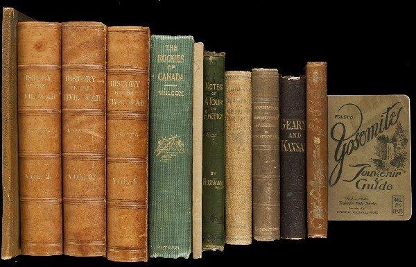 8: Ten titles (in 13 vols) of Americana books