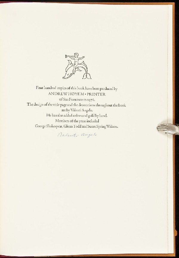 10: Valenti Angelo: Author, Illustrator, Printer