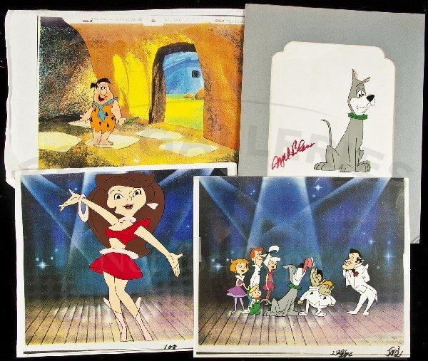 12: 4 animation cels from Jetsons & Flintstones