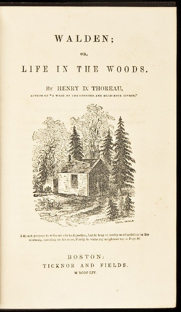 351: First Edition of Thoreau's Walden