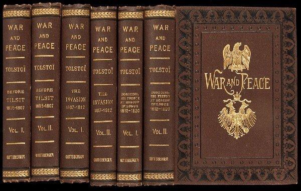 352: War and Peace 1st Ed. 1886-7 Leon Tolstoi 6 Vols