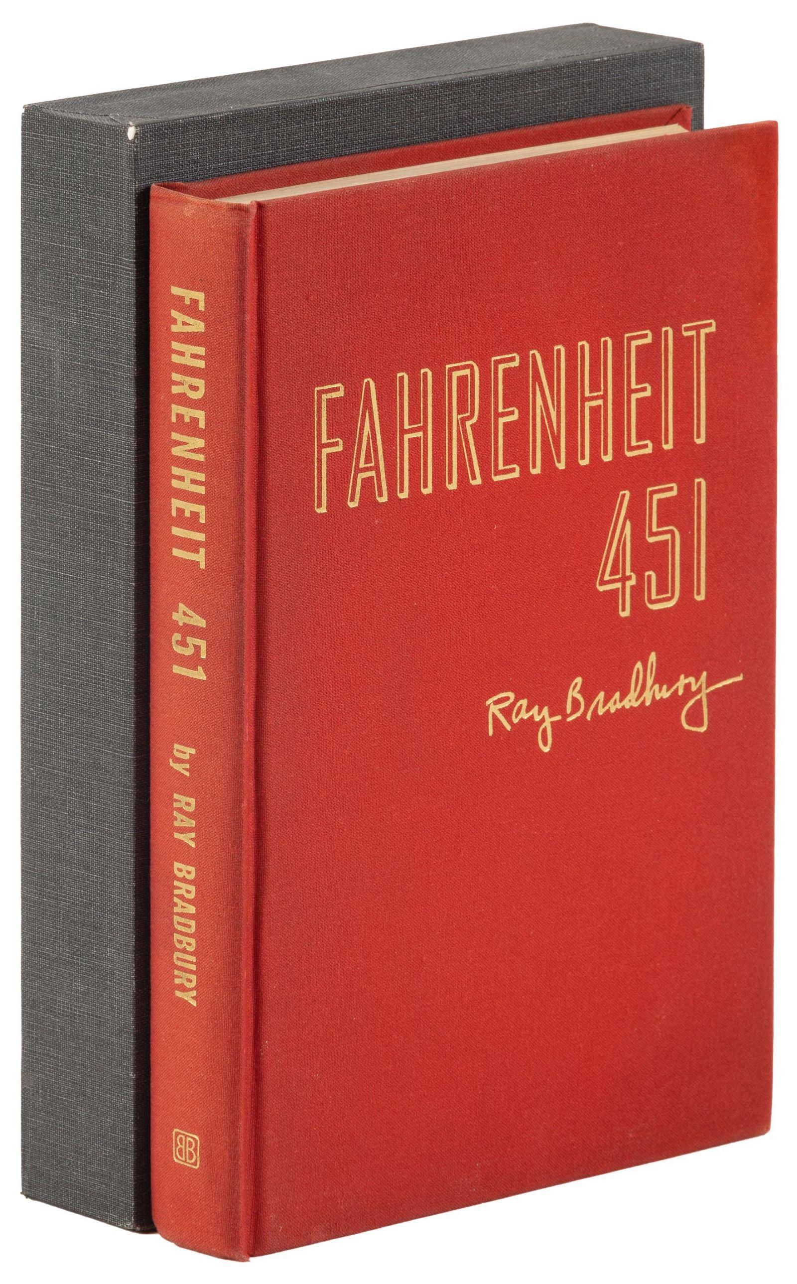 Rare presentation copy of F. 451, inscribed