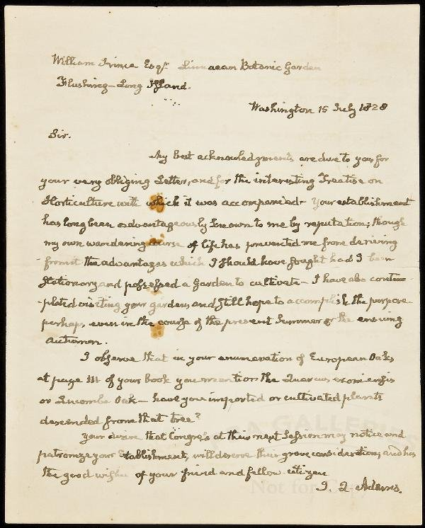 6: Autograph Letter Signed by John Quincy Adams