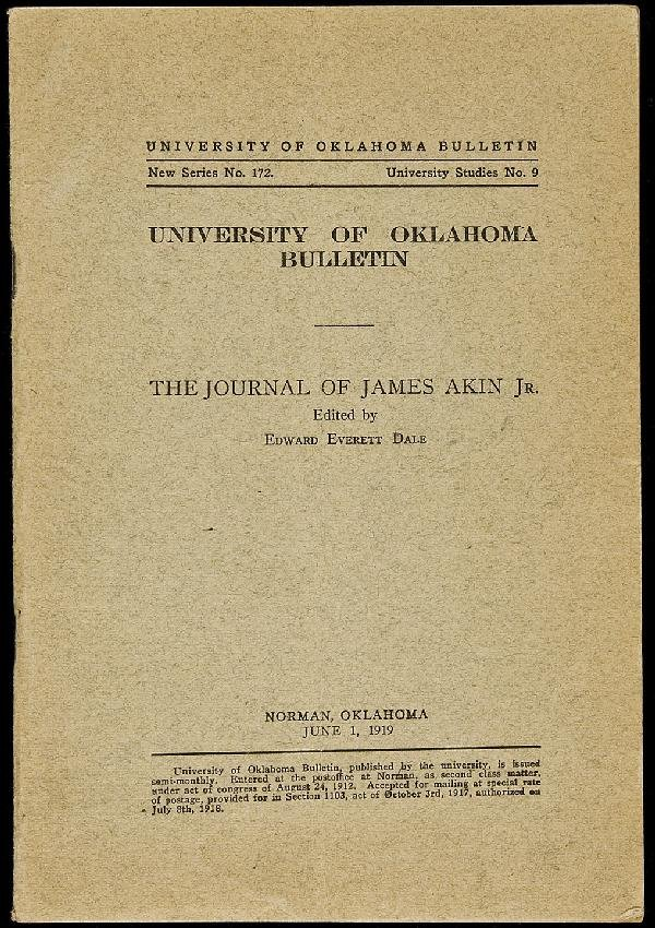 7: The Journal of James Akin, Jr.