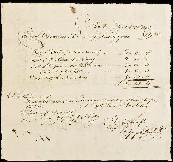 19: Payment for printing Revolutionary pamphlets 1775