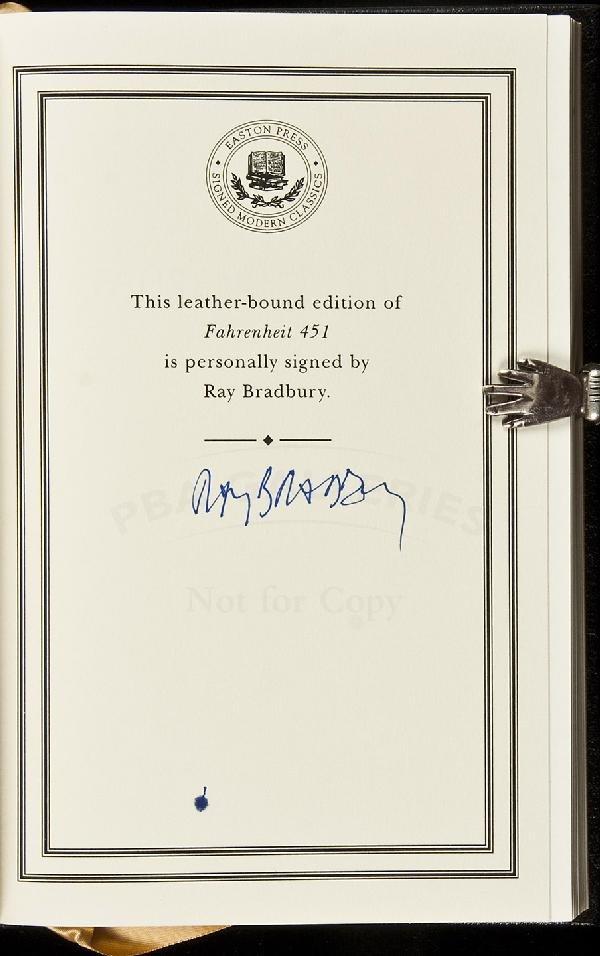 15: Ray Bradbury Fahrenheit 451 Signed
