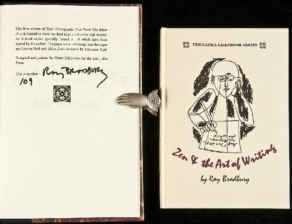 22: Two signed/limited editions by Ray Bradbury