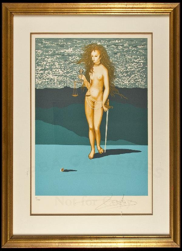307: Goddess of Justice - signed lithograph 1/250