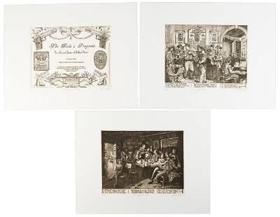 Each print signed by Sandow Birk