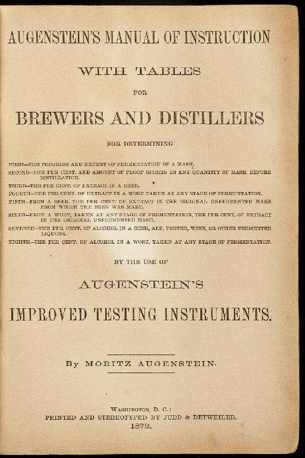 7: Augenstein's Manual for Brewers 1872