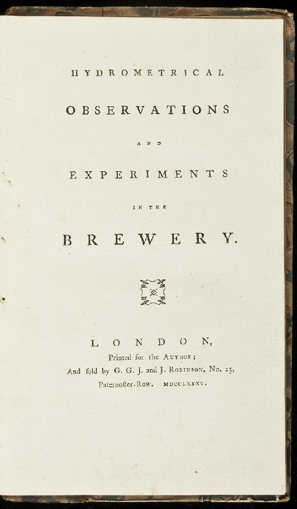 8: Baverstock's Experiments in the Brewery 1785