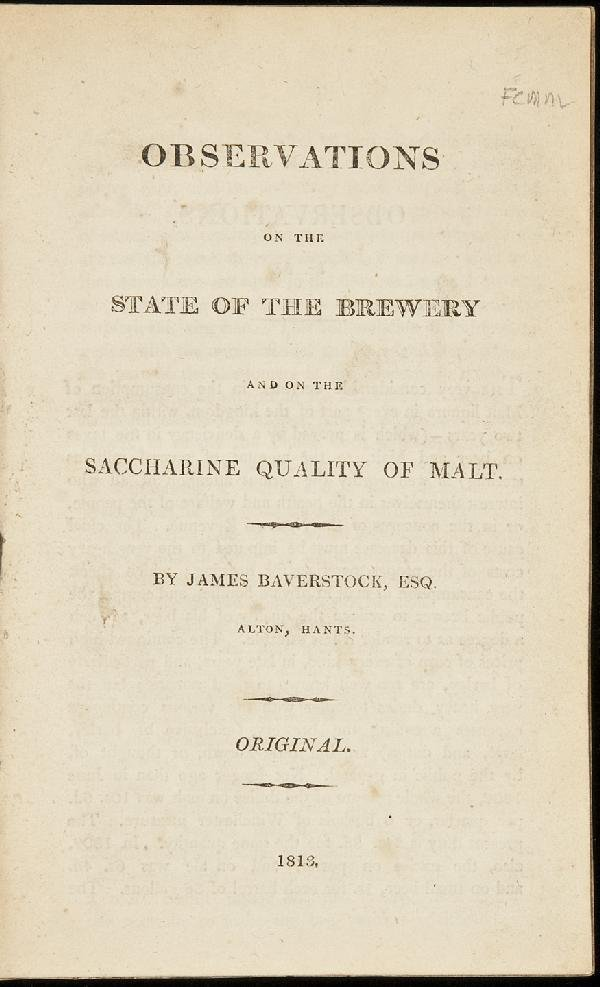 9: Observations on the State of the Brewery`