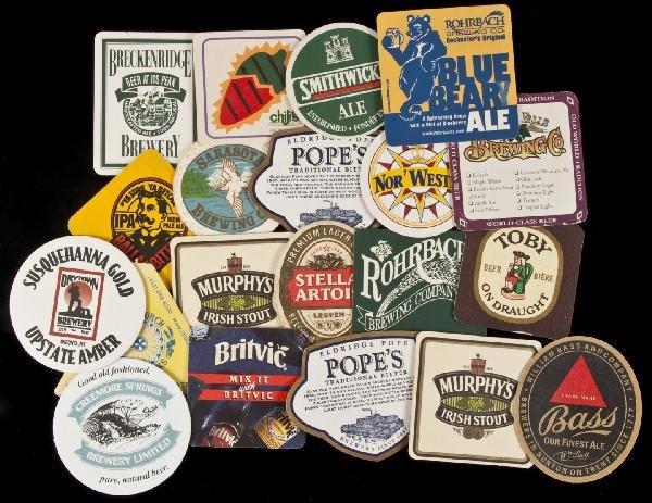11: 178 beer coasters plus restaurant/brewery ephemer