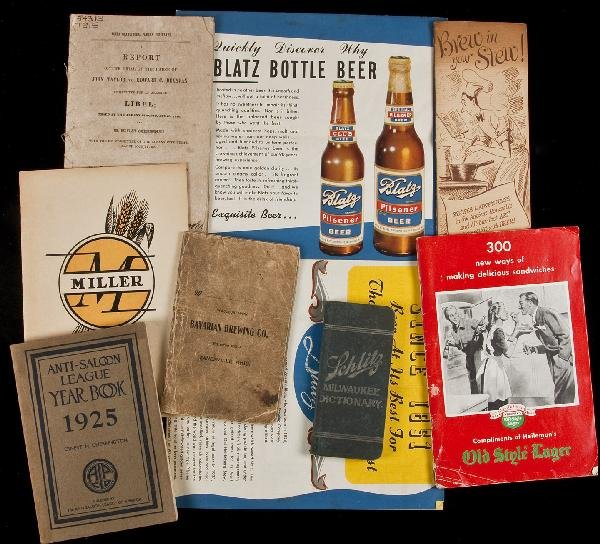 15: 24 booklets & other ephermal items from breweries